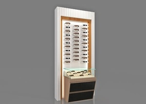 Optical shop wall case rectangular custom made