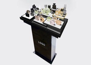 Black perfume stand displays for high grade perfume shop