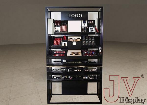 Black Makeup Shelf Wall Display Ideas
