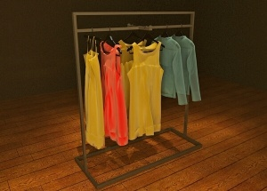 free standing clothes display stand