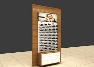 optical frame display rods