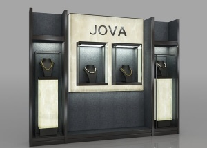 Jewelry store equipment wall display ideas