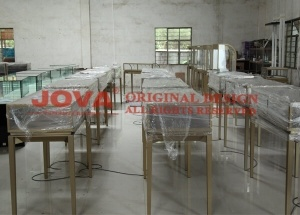 Jewelry shop metal and glass jewelry furniture