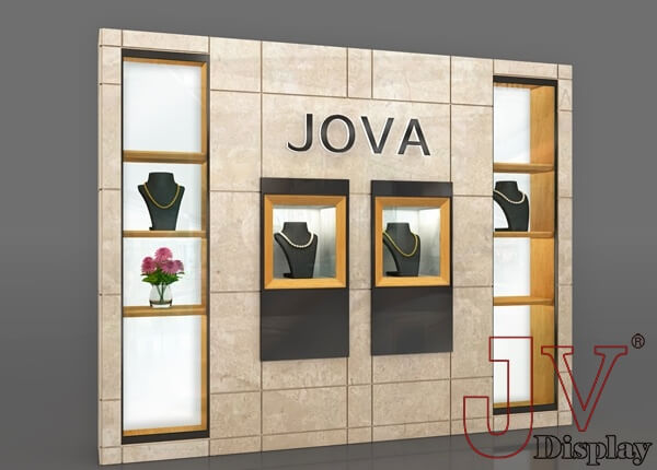 Retail Wall Display Fixtures Marble For Jewelry Shop For