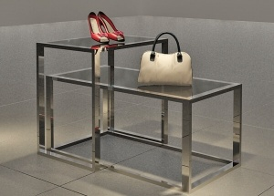 Metal nesting tables 2 piece for shoe handbags