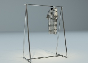hanging clothes rack metal freestanding pipe for shop