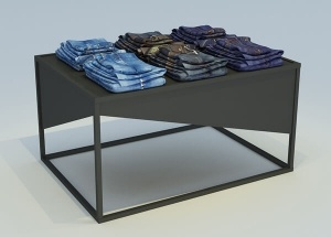 metal display table