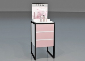 cosmetic display stand design square china supply