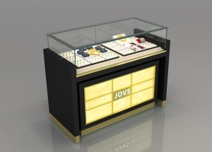 jewelry showcases black tempered glass display case