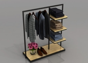 free standing clothes rack black stainless steel