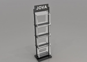 Square acrylic pedestal for tech floor standing