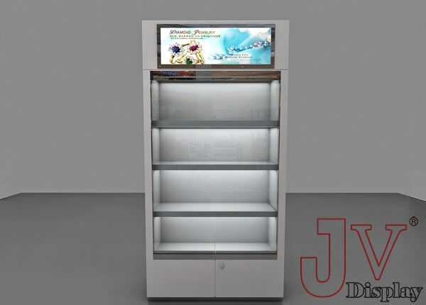 White Gloss Display Cabinet