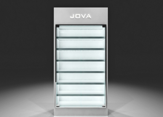 ... High Gloss Display Unit With Glass Doors White ...