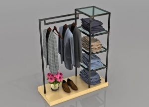 store fixtures clothing racks with 5 shelves custom made