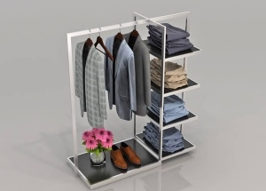 clothes hanger stand stainless steel for shop decoration