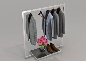 gondola clothes rack freestanding metal store display