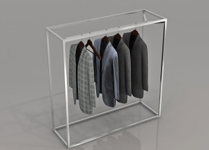 clothes gondola stainless steel rack for retail shop fitting