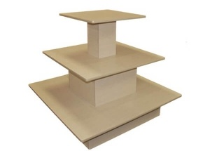 3 tiered waterfall table wooden for clothing shoes handbags