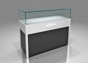 mobile phone shop counter wooden glass 4 ft