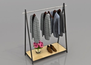 department store clothing racks display double side
