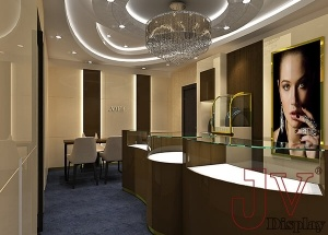 small jewellery shop design idears interior 3D drawing