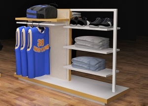 shirt display rack freestanding island display units
