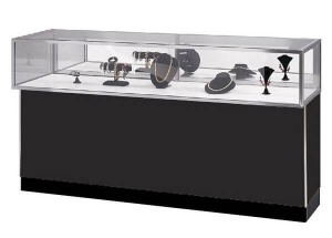 morden jewellery showroom counter designs 6 ft