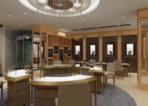 gold jewellery shop interior design