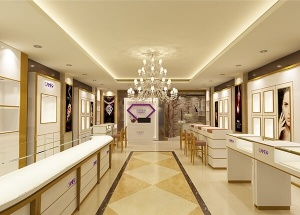 Display furniture design for jewellery shop elegant