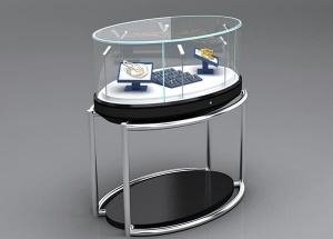 Round steel jewellery furniture for shop design