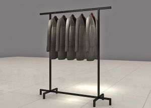 metal clothing shelves