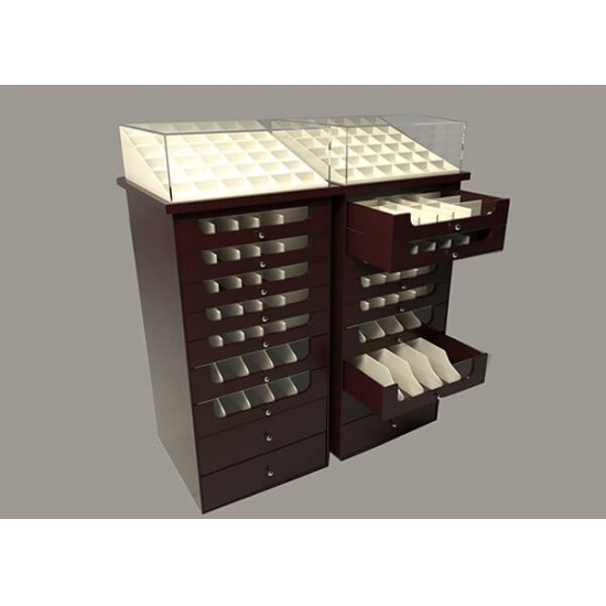 Jewelry Display Cabinets With Drawers Wholesale For Sale