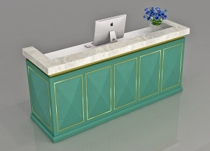 custom register counter reception desk