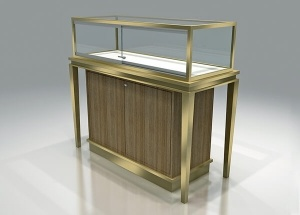 custom jewelry display furniture stainless steel frame