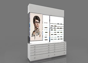 optical shop display furniture retail wall 8ft long