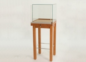 jewellery display case lockable pedestal showcase square