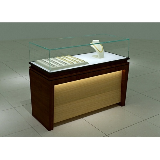 Retail Gl Top Jewellery Display Cases For