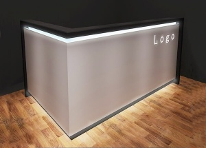 l shaped reception desk