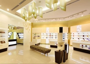 perfume store displays and interior decoration