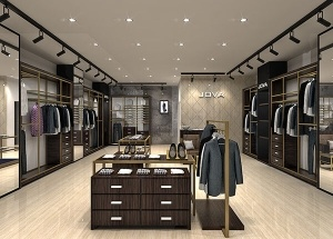 Fashion menswear shop interior design display furniture