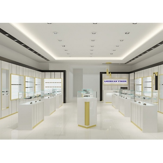 optical shop design with white frame displays for sale optical shop