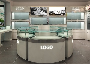 small optical shop design glass showcase