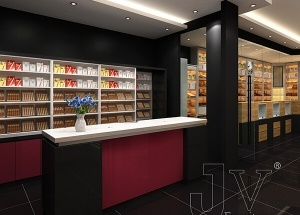 Canada cigarette shop display furniture design