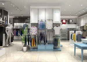 men clothing store design