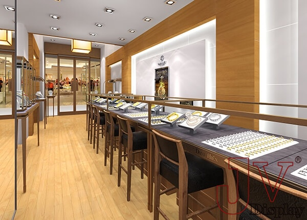 gold jewellery shop design