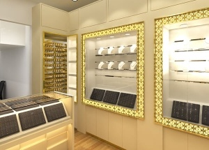 showcase for jewelry store