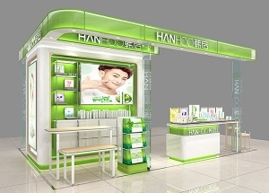 small cosmetic kiosk for Hanhoo cosmetics