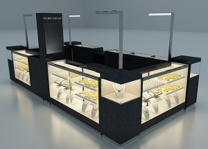 custom made jewelry kiosk