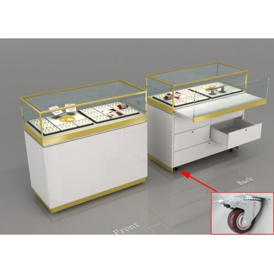 Portable Exhibition Display Cases : Retail jewelry display cases large glass top for sale retail