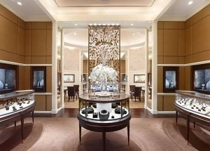 latest jewellery showroom interior design display showcase